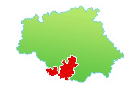 carte de la communauté de communes dans le Gers